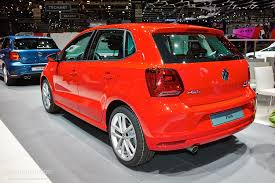 volkswagen polo red volkswagen polo facelift family detailed in geneva live photos
