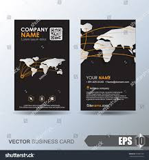 modern simple business card template business stock vector