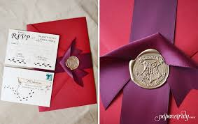 harry potter wedding invitations your invitations and the postal service paper truly