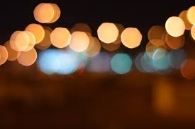 yellow and blue lights free stock photo