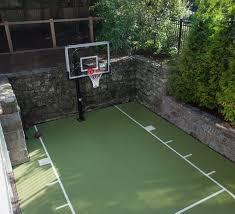 Backyard Tennis Court Cost Stunning Decoration Backyard Basketball Court Cost Astonishing