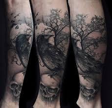 creepy on skull tattoomagz