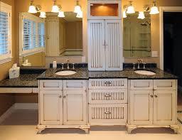 Vintage Bathroom Vanity Sink Cabinets by Creative Vintage Bathroom Vanities Cabinets Using Distressed White
