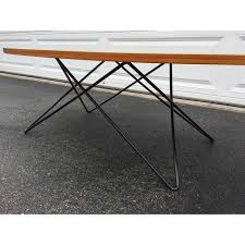 eames wire base low table eames style wire base coffee table chairish