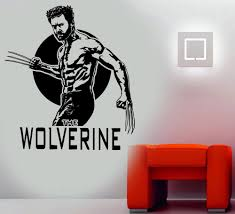 popular wolverine wall decal buy cheap lots wolverine men vinyl wall art decal custom color stickers home decor living room