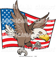 Bald Eagle And American Flag Royalty Free Stock Americana Designs Of Bald Eagles