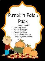 pumpkin patch field trip letter parent reminder worksheets tpt
