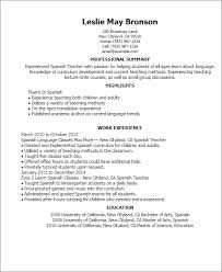 resume samples professional summary spanish resume templates cv formats and templates resume templates