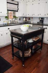 Kitchen Cabinet With Wheels by Kitchen Island Natural Finishes Kitchen Island Cart With Wood Bar