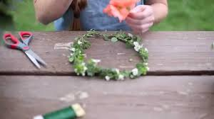 Real Flowers - the most simple way to make a flower crown real flowers youtube
