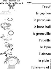 french language activities at enchantedlearning com