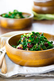 balsamic kale with cranberries healthy seasonal recipes