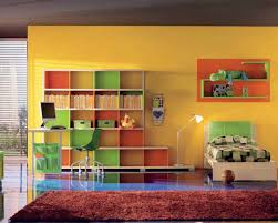 Colorful Bookcases Wall Bookshelves In Your Bedroom For Private Library