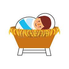 imagenes de jesucristo animado dibujos animados lindo bebé jesucristo en la ilustración de vector