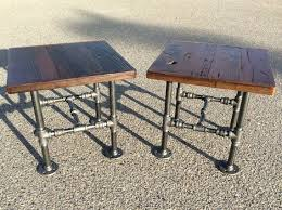 wood and pipe table black wood end table basic woodworking projects diy projects for