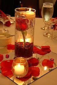 sorprese con candele il centrotavola con le candele per un ambiente romantico ed