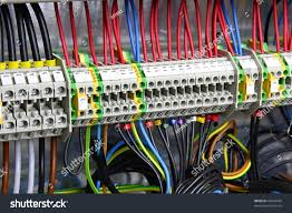 color wires box distribution electricity stock photo 45659494