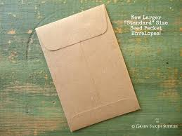 wedding seed packets 100 standard seed envelopes kraft brown standard size seed