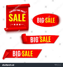 ribbons for sale set sale banners ribbons sticker stock vector 602551739