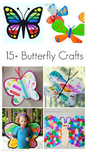 15 spring butterfly crafts for kids children elementary