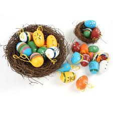 painted wooden easter eggs easter decoration supplies 24pcs wood easter egg decoration 35mm