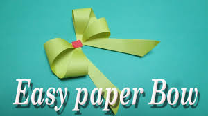 how to make simple easy paper bow diy easy paper bow gift wrap