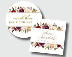 wedding favor labels wedding favor labels etsy
