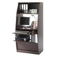 bureau informatique en bois bureau informatique en bois avec rideau à serrure wengé