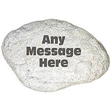 amazon com giftsforyounow engraved memorial garden stone 11