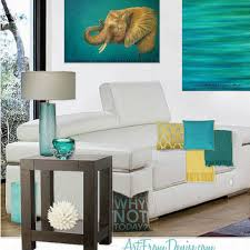 yellow and teal decor laundry room from artfromdenise things i