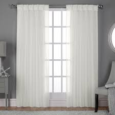 sheer window treatments ati home belgian sheer window curtain panel pair with pinch pleat