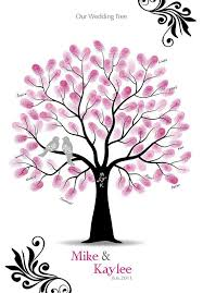 Wedding Trees Fingerprint Tree Wedding Guestbook Alternative This Would Look