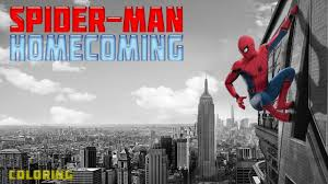 spider man homecoming spiderman coloring book pages