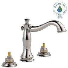 delta cassidy 8 in widespread 2 handle bathroom faucet with metal