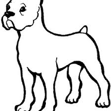boxer dog sketch coloring pages best place to color