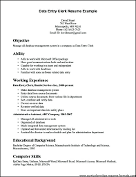 clerical resume templates general resume format doc medicina bg info