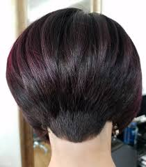 wedge shape hair styles highly inverted and stacked in the back while all the hair