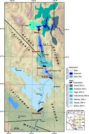 Colorado River Map by Paleogeomorphology And Evolution Of The Early Colorado River