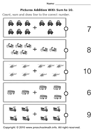 addition addition worksheets kindergarten free free math