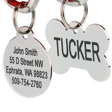 amazon com stainless steel pet id tags personalized dog tags