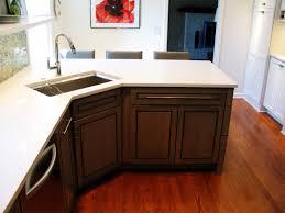 Decorating Modern Style Corner Kitchen Sink With Beautiful Colors - Corner undermount kitchen sink