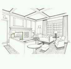living room jpg rendering grayscale pinterest sketches