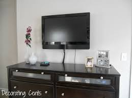 Table For Under Wall Mounted Tv by Decorating Cents December 2013