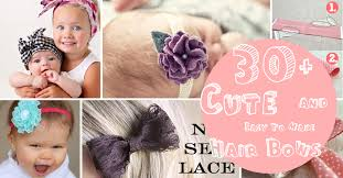children s hair accessories 30 and easy to make hair bows diy projects