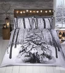 Woodland Duvet Xmas Christmas Theme Duvet Quilt Cover Bedding Sets Single