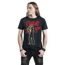 Kauf Kaufen Herren Freitag Der 13 T Shirt Jason Voorhees Schwarz Jetzt Online