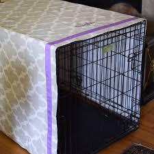 Dog Crate Covers Personalized Grey Crate Cover With Lilac Monogram Quatrefoil