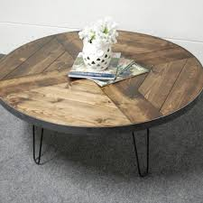 round hairpin coffee table round coffee tables archives southern sunshine