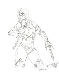 mortal kombat coloring pages sketch coloring page