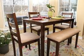 Dining Table For 4 Dining Table Set With Bench And Chairs Tags Adorable Dining Room